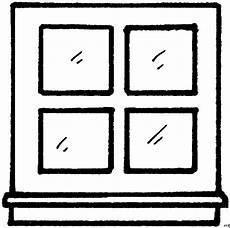 einfaches fenster ausmalbild malvorlage architektur
