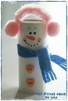 diy faire un bonhomme de neige avec un rouleau de papier