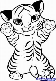 Malvorlagen Tiger Motor Baby Tiger Coloring Pages Coloring Home