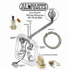 wiring kit gibson 174 les paul complete with schematic diagram pots switch wire ebay