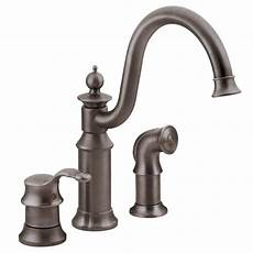 3 kitchen faucets moen waterhill high arc single handle standard kitchen faucet with side sprayer in rubbed