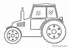 einfacher traktor ausmalbild 187 gratis ausdrucken