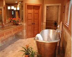 warm paint color with oak trim bathroom for the home