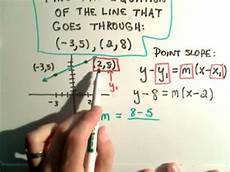 y y1 m x1 find the equation of a line using point