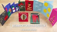 originelle weihnachtskarten selber basteln 10 einfache
