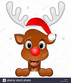 reindeer rudolph wishes you a merry christmas 131584159 alamy