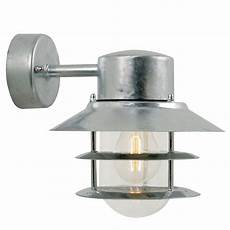 nordlux blokhus down e27 outdoor wall light galvanised