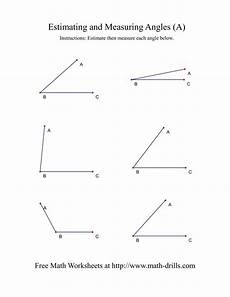 free angle measurement worksheets 1993 measuring angles a