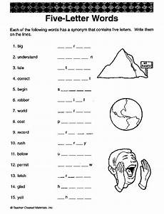 five letter words fun critical thinking english worksheet synonyms homeschool stuff j