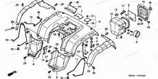honda parts diagram honda atv 2001 oem parts diagram for rear fender 1 partzilla