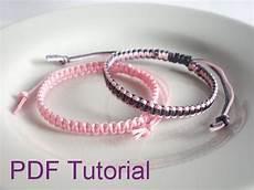 Pdf Tutorial Square Knot Macrame Bracelet Pattern Instant