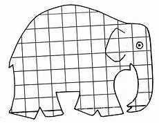 elmar elefant ausmalbild pinteres