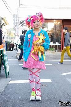 kumamiki s pink orange hair sweet accessories platforms in harajuku