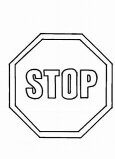verkehrszeichen stop ausmalbild malvorlage verkehrszeichen