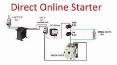 direct online starter dol starter connection in hindi