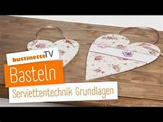 Buttinette Tv Grundlagen Serviettentechnik Tutorial