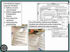 grammar worksheets fused sentences 24692 comma splice fused sentence run on by just add students tpt