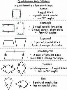 worksheets polygons and quadrilaterals 1025 quadrilateral helpful hints and worksheets by riess room tpt