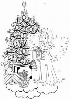 ausmalbilder mit zahlen weihnachten malvorlagen