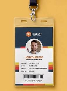 employee i card template 10 free employee id card design templates mockups