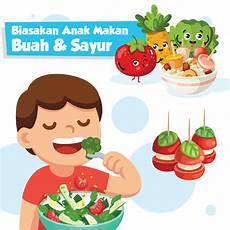 Biasakan Anak Makan Buah Sayur Indonesia Baik