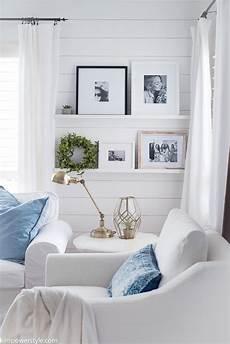 Home Decor Ideas White Walls by Simple Home Tour 2017 Farmhouse Living Room Decor