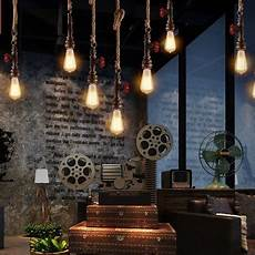 vintage industrial style loft style rope water pipe l edison pendant light