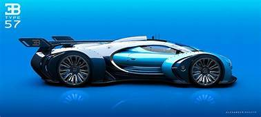 Insane Bugatti Type 57 GT Concept Car Side View