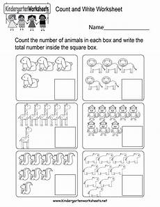 Free Printable Count And Write Worksheet For Kindergarten