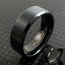 black titanium men s brushed finish stripe wedding band ring size 9 13 ebay