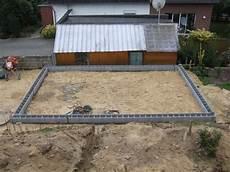 Garage Mauern Fundament by Garagenbau 2 Teil