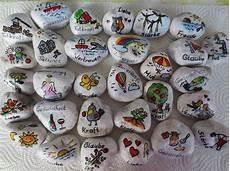 Bemalte Steine Kaufen - 10 wunschsteine aus wei 223 em carrara marmor mit
