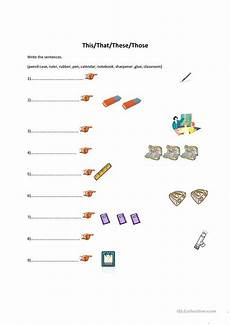 grammar worksheets this that these those 24996 this that these those classroom objects worksheet free esl printable worksheets made by teachers