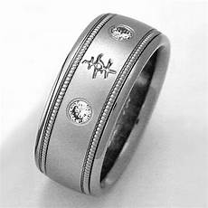 belcourt titanium ring with chinese characters titanium wedding rings handcrafted by exotica