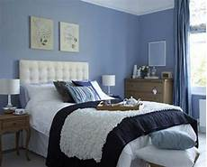 Bedroom Decor Ideas With Blue Walls by Blue Bedroom Decoration With Beige Accent On Wall