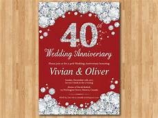 40th Wedding Anniversary Invites
