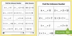 algebra worksheets ks1 8475 unknown numbers ks1 worksheet activity sheet algebra