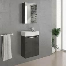 Spiegel Gäste Wc Mit Beleuchtung - vicco badm 246 bel set 45 cm schwarz hochglanz g 228 ste wc bad