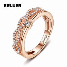infinity rings for rose white gold color fashion wedding engagement ring cz zircon party