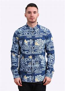 paul smith ear floral pattern shirt blue