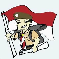 Gambar Kartun Pramuka Merah Putih Dan Perjalanan Mengenal