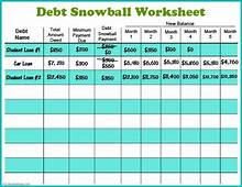 Free Printable Debt Snowball Worksheet  Pay Down Your