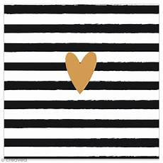 Serviette En Papier Coeur Dor 233 Sur Fond 233 Noir Et