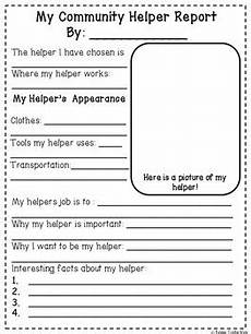 community helpers research report and writing by kinderconfections