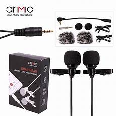 phone interview shopee ulanzi arimic 6m dual head lavalier lapel clip on microphone for lecture or interview shopee