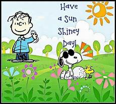 guten morgen snoopy a sun shiny day linus snoopy and woodstock
