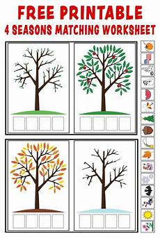 weather conditions worksheets for kindergarten 14516 quot season match up quot printable 4 seasons matching worksheet seasons kindergarten seasons