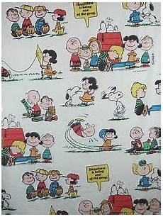 vintage 1971 peanuts gang snoopy twin flat bed sheet happiness is guc