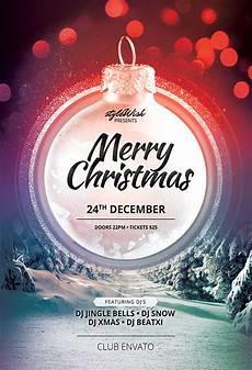 merry christmas flyer template behance