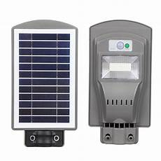 led 20w solar outdoor wall street light powered pir motion